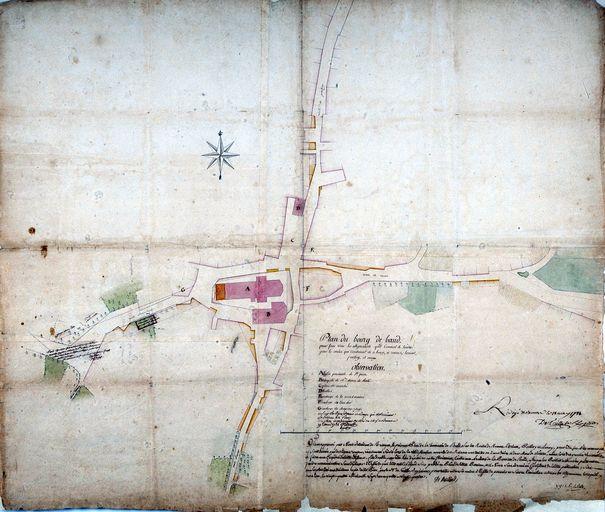 Ce plan de 1784 montre qu'il ne s'agit pas d'une place mais plutôt de deux larges rues qui  entourent la nef de l'église St Pierre.