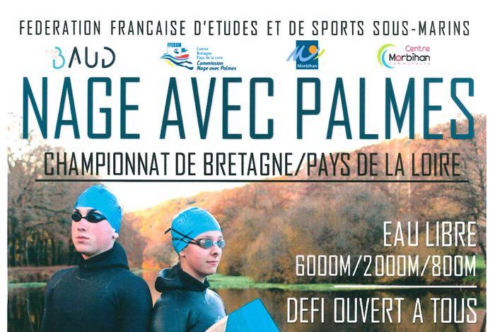 Championnat de nage avec palmes