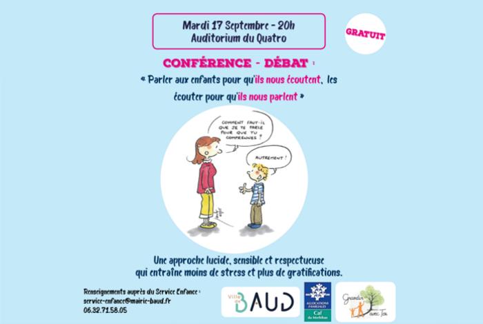 Conférence sur la Parentalité «Parler aux enfants pour qu'ils écoutent»