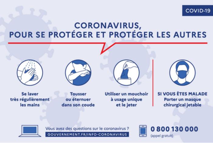 Coronavirus – mesures de prévention à l'École du Centre