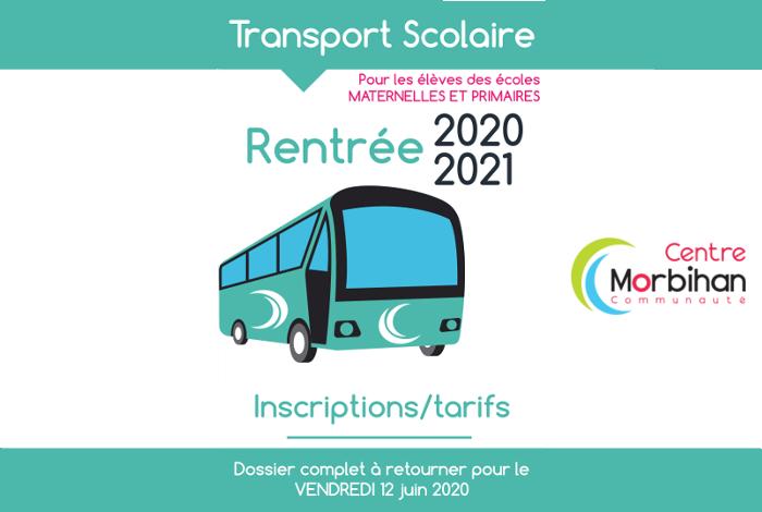 Inscriptions transport scolaire
