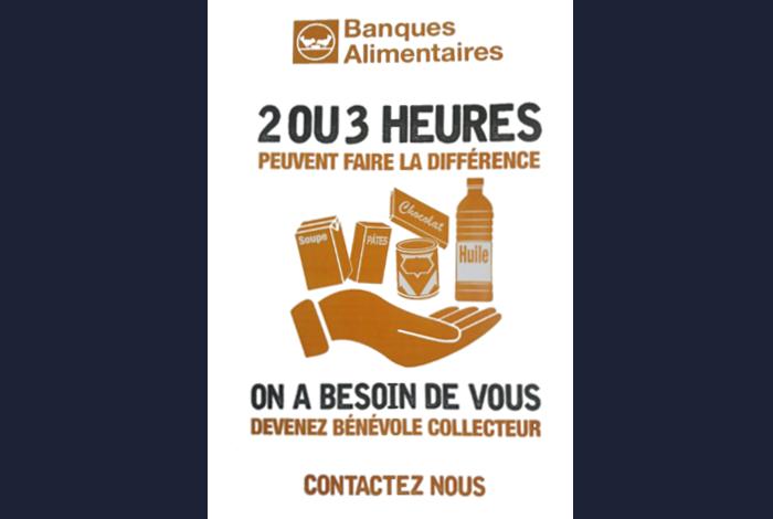 Recherche de bénévoles collecte de la banque alimentaire