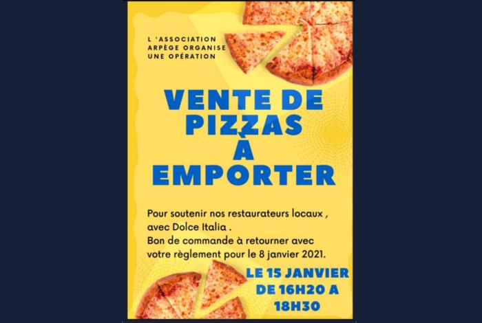 Pizza à emporter à l'école du Gourandel