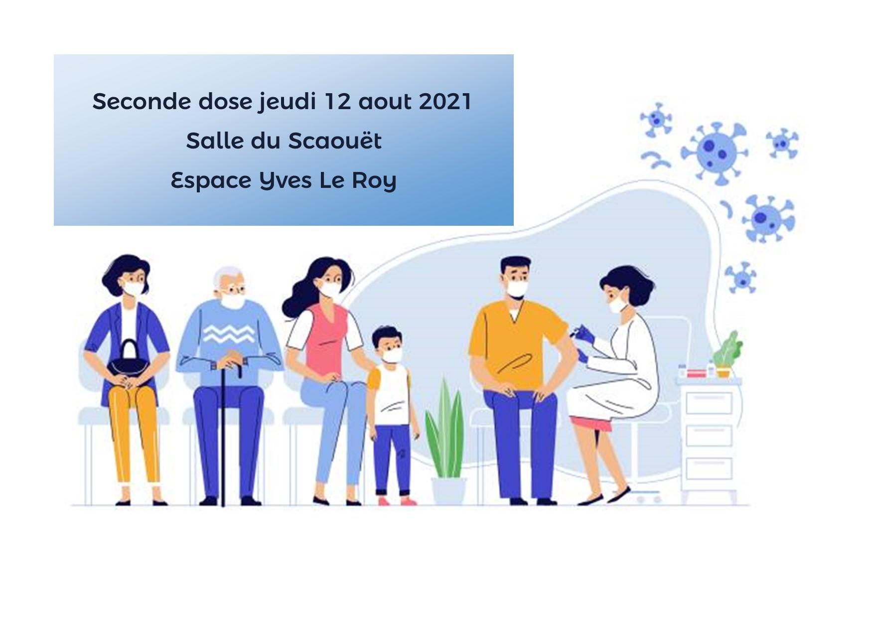 Vaccinodrome éphémère – Seconde dose le 12 aout 2021